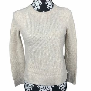Madewell Sweater Button Down Back Crew Neck Cream